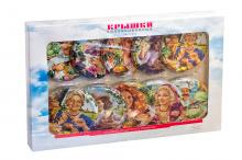 Коллекционные крышки «РУССКИЕ ПРОСТОРЫ» «Москвичка» в сувенирном наборе