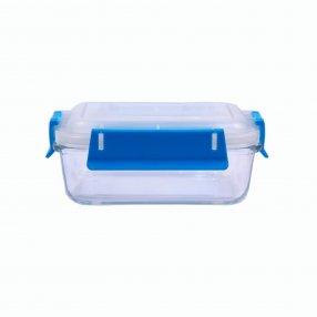 Контейнер для пищевых продуктов с голубыми ручками