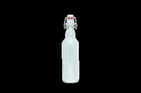 Бутылка 0.5л. Пивная с бугельным замком  бесцветная