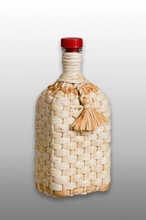 """Бутылка """"Штоф"""" 1,2 л с плетением"""