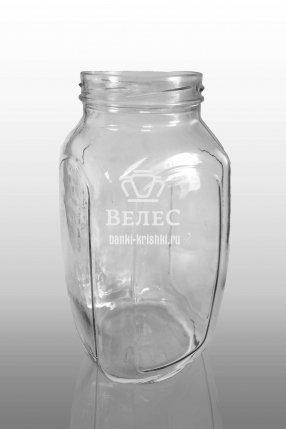 """Винтовая стеклянная банка """"Кубик"""" 1,5 л ТО-82"""