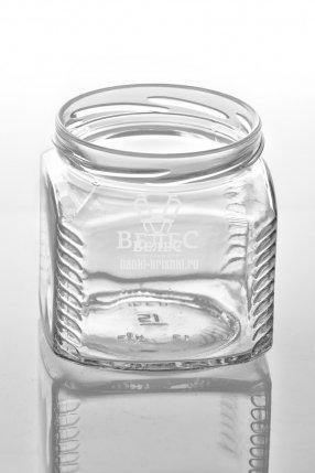 Винтовая стеклобанка Твист «Кубик» 390 мл ТО-82